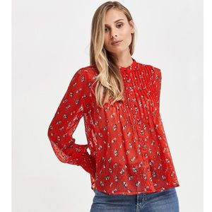 NWT Free People Flowers in December Floral Blouse